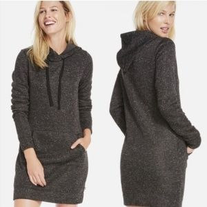 Fabletics Dark Gray Sweatshirt Hoodie Dress
